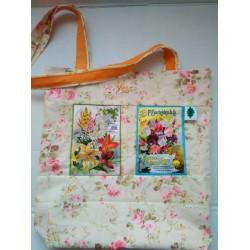 Látková taška s květinovými...