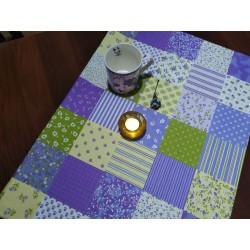 Ubrus fialový patchwork