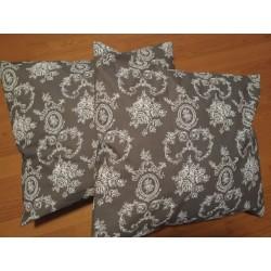 Polštář šedý ornament 1 ks