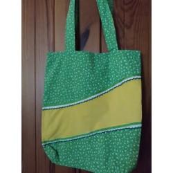 Látková taška zelená