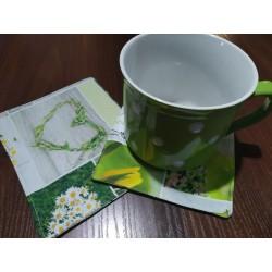 Podšálník zelený patchwork