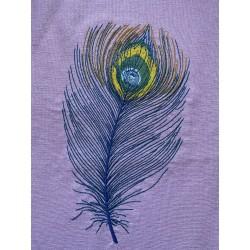 Výšivka - paví brk