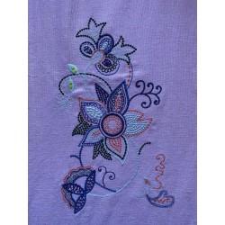 Výšivka - bohatá květina