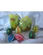 Velikonoční svíčky a dekorace
